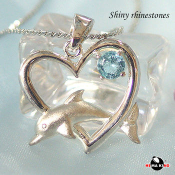 【HEMAKING】真愛無限純銀項鍊(藍)