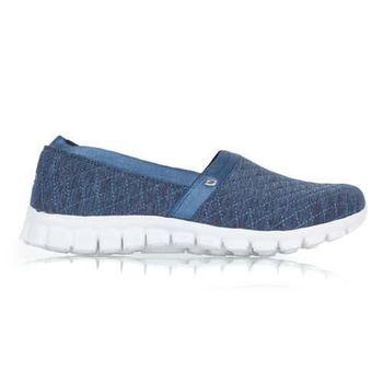 【SKECHERS】女休閒健走鞋 EZ FLEX 2-BANKROLL 深藍