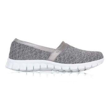 【SKECHERS】女休閒健走鞋 EZ FLEX 2-BANKROLL 灰銀