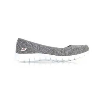 【SKECHERS】女休閒健走鞋 EZ FLEX 2-SPRUCED-UP 灰粉
