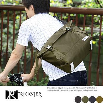 【TRICKSTER】日本品牌 斜背包 郵差包 A4 大尺寸 側背包 空氣包感 防潑水尼龍【tr1533】