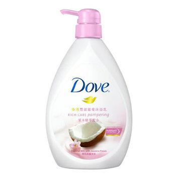 多芬 豐盈寵愛沐浴乳-椰乳與蔓茉莉(750ml)