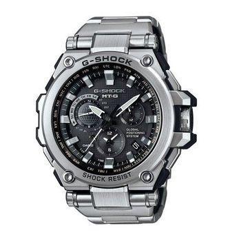 G-SHOCK 太陽能GPS昇華版無限伸展電波指針式霸氣腕錶-銀+黑-MTG-G1000D-1A
