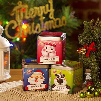 《Mongi萌果子》怪獸家族聖誕版(竹炭花生+原味牛軋糖+白桃烏龍茶)