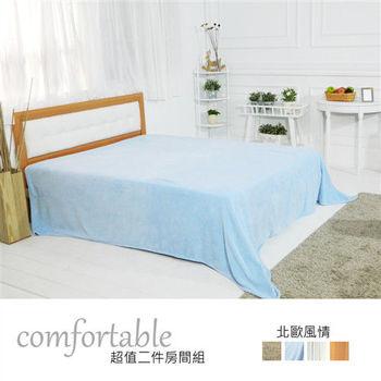 【時尚屋】[WG5]艾達北歐床片型2件房間組-床片+床底1WG5-1+5031