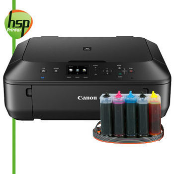 【HSP連續供墨系統】CANON MG5670【單向閥+黑色防水】五色 經典黑 無線多功能相片複合機