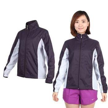 【SOFO】女風衣立領設計外套-防風 慢跑 路跑 立領 深葡萄紫粉紫