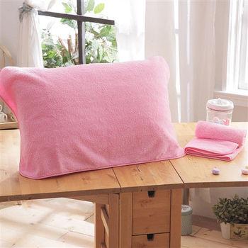 HO KANG 3M專利 抗菌防蹣枕巾-粉色 2入