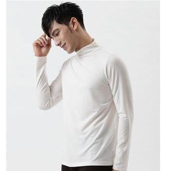 【ATUM】極暖系 中空紗 熱保存發熱衣(男款-立領-鮮乳白)