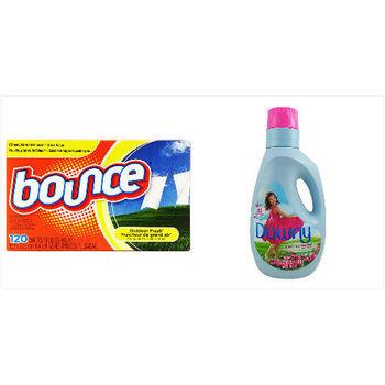 美國Bounce多用途芳香片(120片/盒)*3+Downy衣物柔軟精-原味香氛(64oz/1890ml)*3