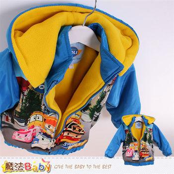 魔法Baby 兒童外套 POLI授權正版絨裡鋪棉連帽厚外套~k44881