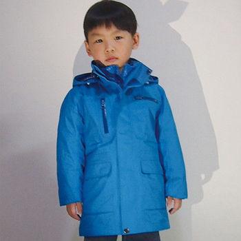 【JORDON 橋登】男童防水防風GORE-TEX外套+羽絨兩件式長大衣(1203)