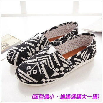 《DOOK》幾何圖騰 懶人鞋-黑色