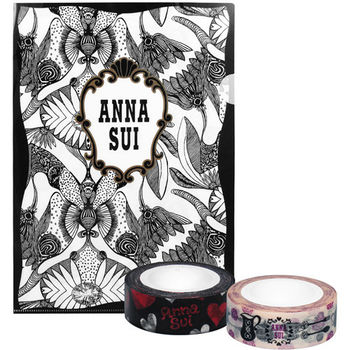 ANNA SUI 安娜蘇 魔法星願文件夾+愛戀甜心紙膠帶+薔薇午茶紙膠帶