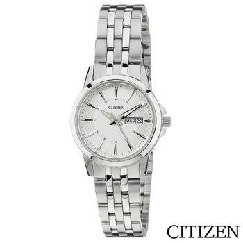 CITIZEN星辰 簡潔大方時尚女性腕錶 EQ0600-57A