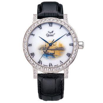 Ogival 瑞士愛其華-文藝復興系列琺瑯機械腕錶(驚人的威尼斯)388A1550.04GW