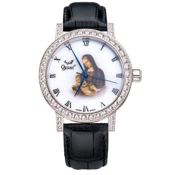 Ogival 瑞士愛其華-文藝復興系列琺瑯機械腕錶(康納斯聖母)388A1550.02GW