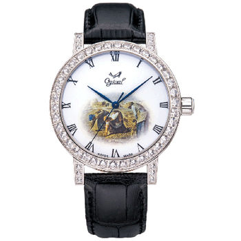 Ogival 瑞士愛其華-文藝復興系列琺瑯機械腕錶(拾穗)388A1550.03GW