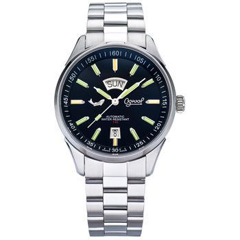 瑞士愛其華 Ogival-最新款夜鷹系列自動機械錶-黑3359-3ATGS
