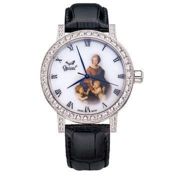 Ogival 瑞士愛其華-文藝復興系列琺瑯機械腕錶(草地上的聖母)388A1550.01GW