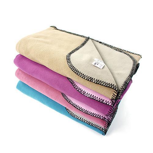 JORDON 超細纖維雙色雙面保暖單人刷毛毯