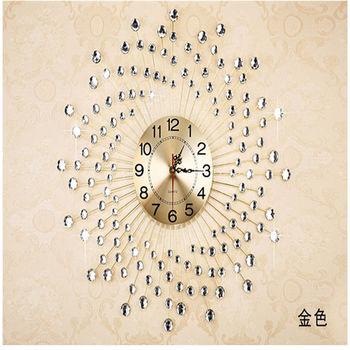【協貿】現代簡約時尚時鐘藝術創意個性靜音石英白鑽大掛鐘