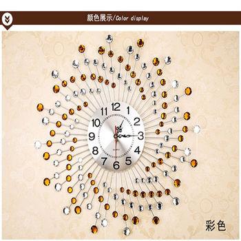 【協貿】現代簡約時尚時鐘藝術創意個性靜音石英彩鑽大掛鐘