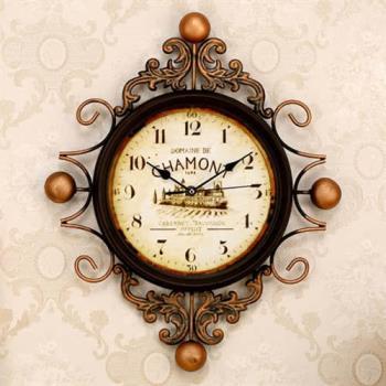 【協貿】佛羅倫薩拖斯卡納風掛鐘復古裝飾