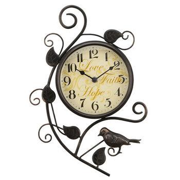 【協貿】現代創意靜音個性喜鵲鐵藝大號歐式時尚掛鐘