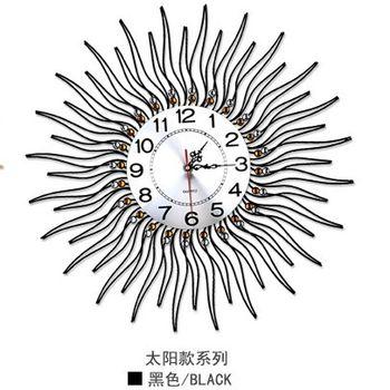 【協貿】現代創意靜音個性圓形時尚簡約太陽石英鐘