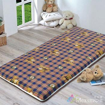 【Mexsmon美思夢 】冬夏兩用青白鋪棉床墊5X6尺雙人-可愛小熊
