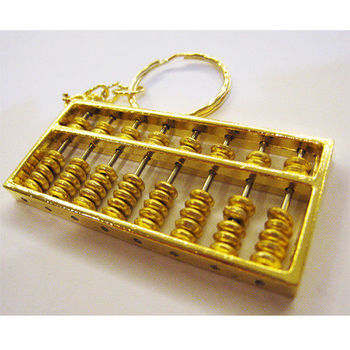 【開運陶源】(小)金算盤key 鑰匙環