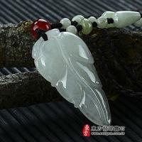 ~東方翡翠寶石~一葉致富A貨天然翡翠掛件吊墜 ^#40 糯種,白翡,些微透光 ^#41 L