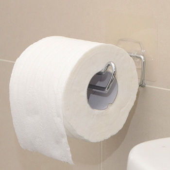 【日本MAKINOU】環保無痕魔術貼304不鏽鋼捲筒衛生紙架