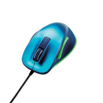 ELECOM M-XG系列 滑鼠 有線M (彩色-藍綠色)