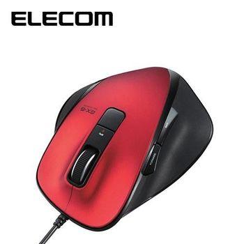 ELECOM M-XG系列 滑鼠 有線S (黑/紅)
