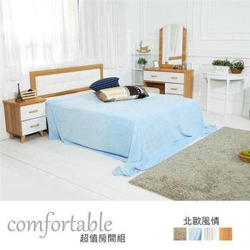 【時尚屋】[WG5]貝絲北歐床片型3件房間組-床片+掀床+床頭櫃1個1WG5-1+501A+3W