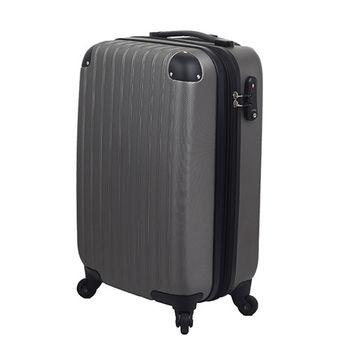 LETTi 『經典簡約』28吋時尚菱格防刮旅行箱-鋼鐵灰