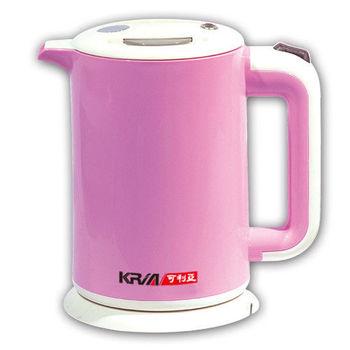 【KRIA可利亞】雙層防燙全開口式迷你開水瓶/快煮壺/電水壺KR-1310