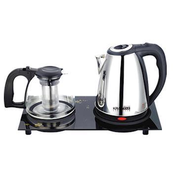【KRIA可利亞】二合一套裝泡茶機/電熱水瓶/泡茶壺/沖泡壺/電水壺KR-1325