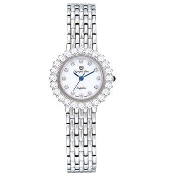 奧林比亞之星Olympia Star -冰心雪蓮珠寶錶--白面28005 DLS