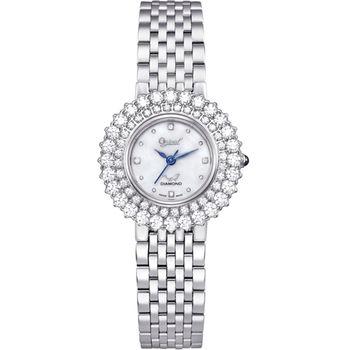Ogival瑞士愛其華-薔薇系列璀璨時尚真鑽腕錶(經典銀)380-01DLS