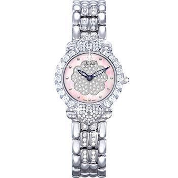Ogival 瑞士愛其華-山茶花系列女王style時尚真鑽腕錶380-083DLW