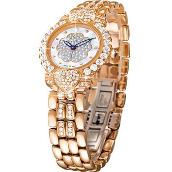 Ogival 瑞士愛其華-山茶花系列女王style時尚真鑽腕錶380-083DLR