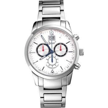 Ogival 瑞士愛其華-皇家戰鬥機系列逆跳極速多顯腕錶(極速白)832-04MS