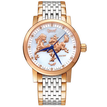Ogival 瑞士愛其華-豪情奔騰雅仕真鑽機械腕錶(40mm)388.81AGSR