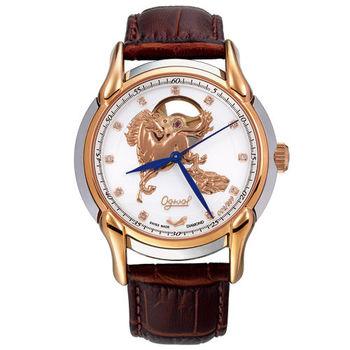 Ogival 瑞士愛其華-金馬奔騰雅仕真鑽機械腕錶(40mm)1950.82AGSR