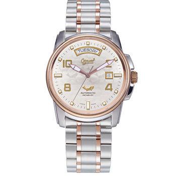 瑞士愛其華 Ogival-黑鷹計畫 機械錶(飛官銀) 3360AMSR