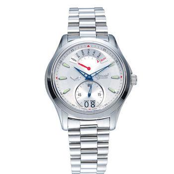 瑞士愛其華 Ogival-逆跳極速多顯腕錶(白) 832NMS