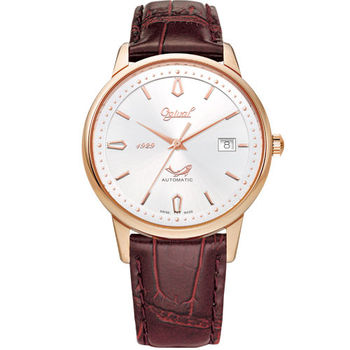 Ogival瑞士愛其華-1929 復刻紀念機械錶(羅馬金)1929-24AGR